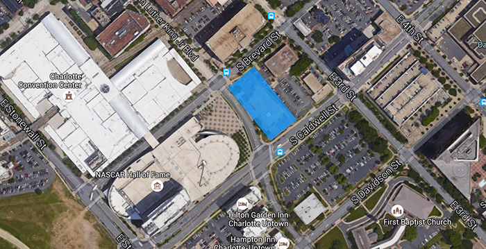 Embassy-Suites-Uptown-Charlotte-location