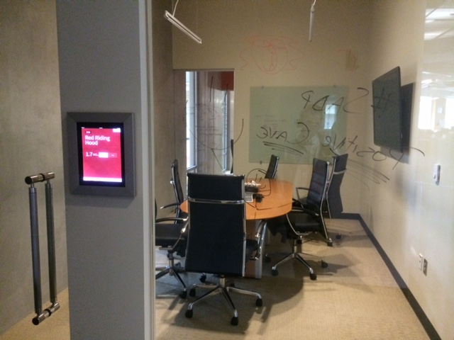 red ventures conference room glass