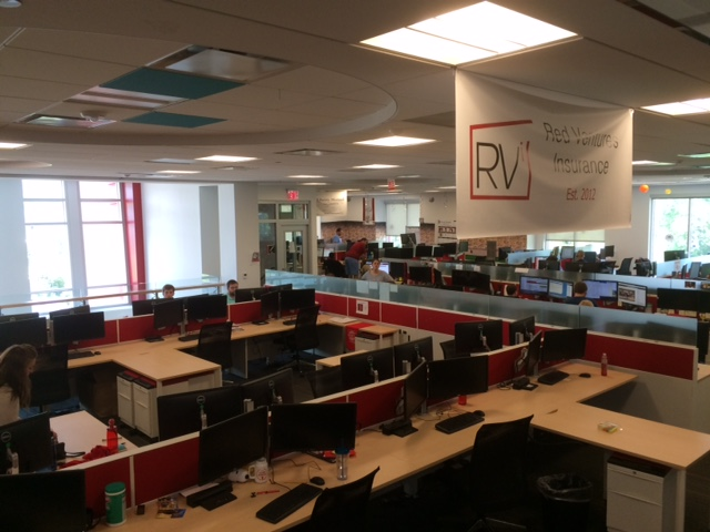 red ventures office and cubicles
