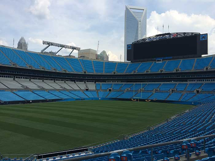 uptown from bank of america stadium