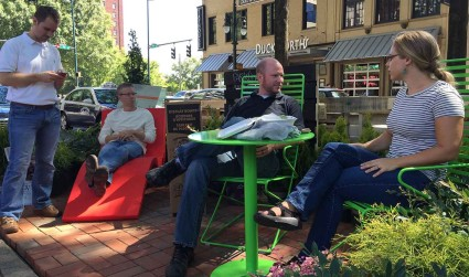 Parklets turned Tryon Street into a backyard oasis (20 photos + poll)
