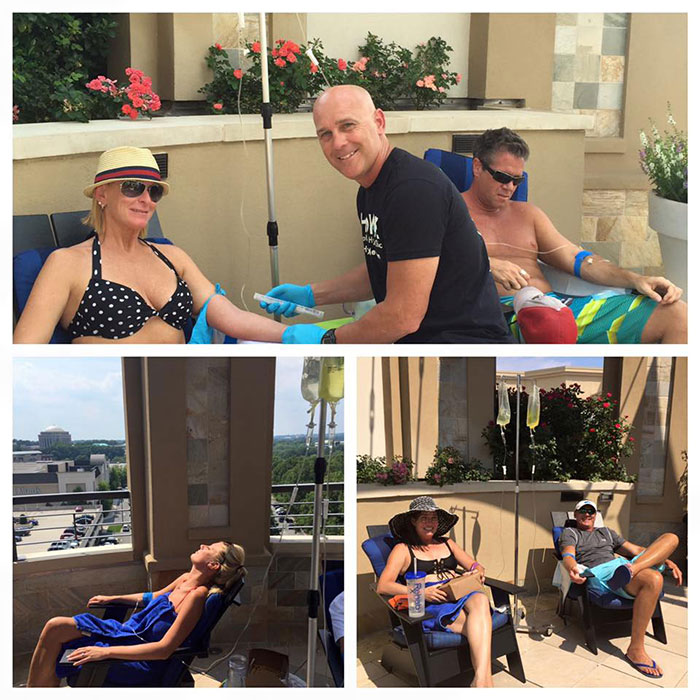 Hydrate Medical by the pool