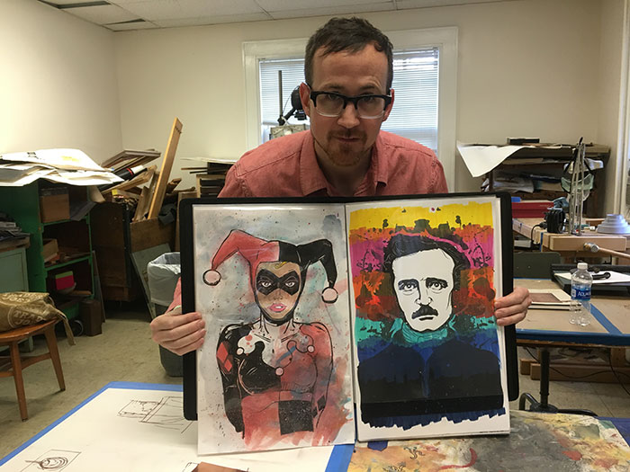 Mike-Wirth-with-some-of-his-work
