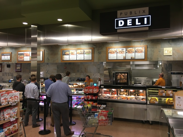 publix sub line at lunch in south end