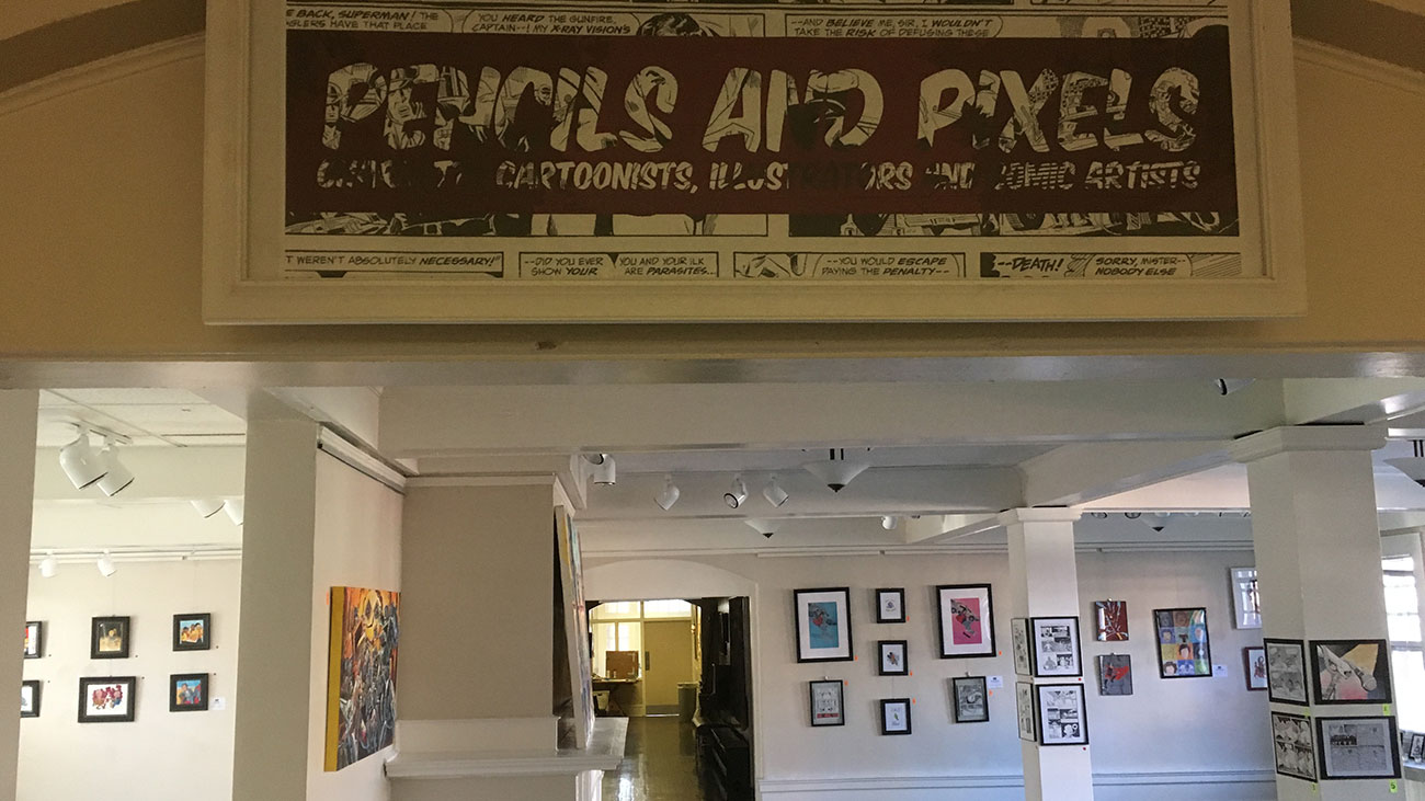 Only 2 more days to experience the free Pencils and Pixels comic gallery at Queens University