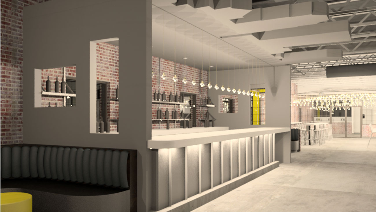 Renderings of VBGB's new, larger concept going next door to current location