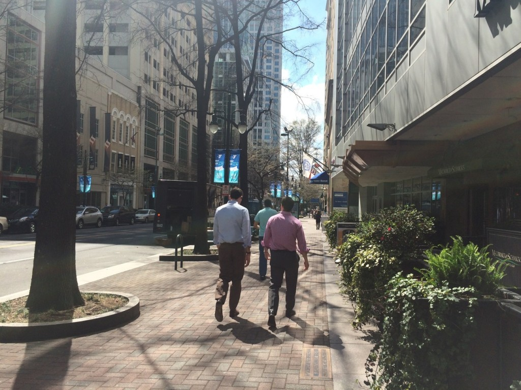 Do I drive around Charlotte because my commute is unwalkable or because it's a habit?
