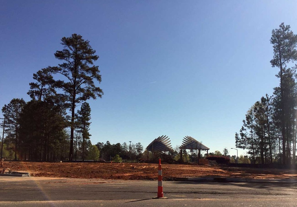 Community House Road is a new center of construction in Ballantyne