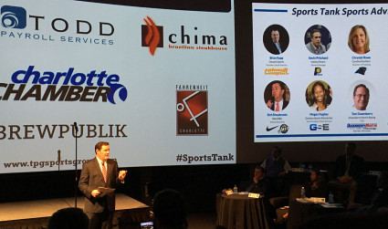 "The Sports Tank pitch event brought the ""Shark Tank"" entertainment factor to Charlotte"