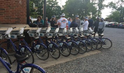 B-cycle adds burpees to your leisurely Rail Trail ride for an all new free boot camp