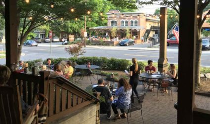 East Boulevard is Charlotte's restaurant row