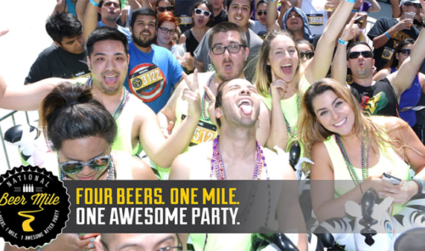Four beers, one mile and one awesome after party: the National Beer Mile is this Saturday