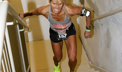 What is tower running and how did a Charlottean become the women's national champion?
