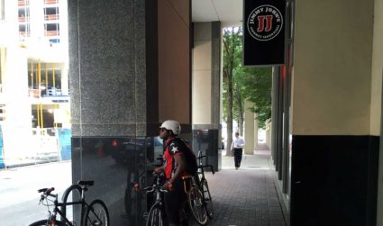 How much are the Jimmy John's bicycle delivery guys paid?