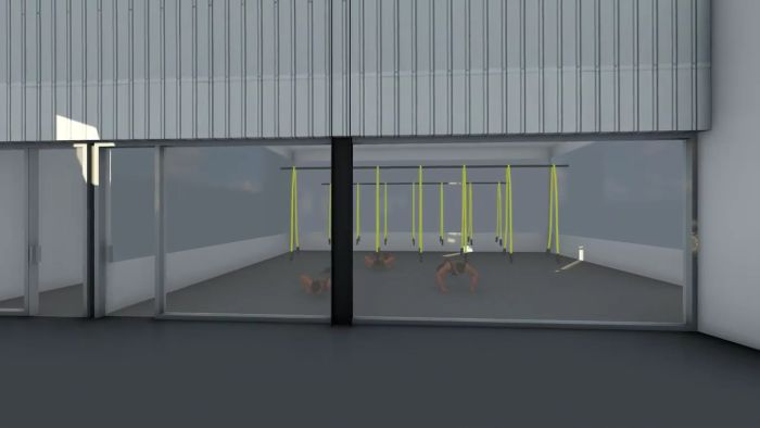TRX facility rendering at the new Pure Body