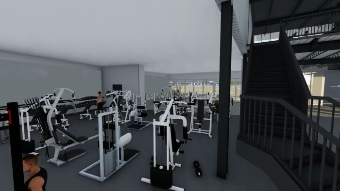 Downstairs rendering of the new Pure Body location