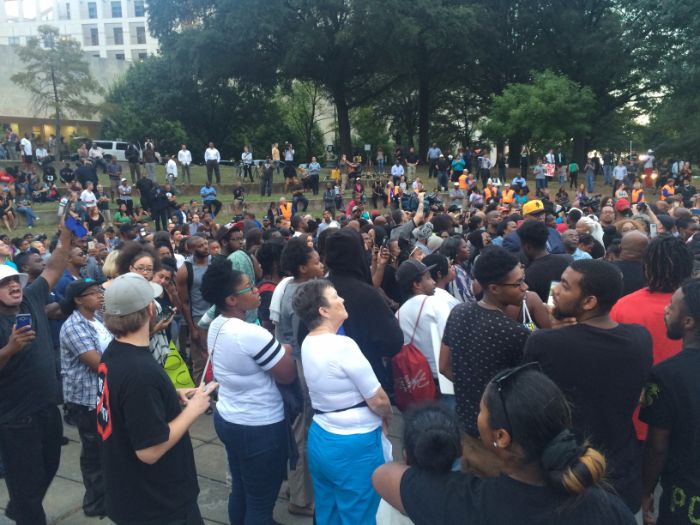 marshall park charlotte protests