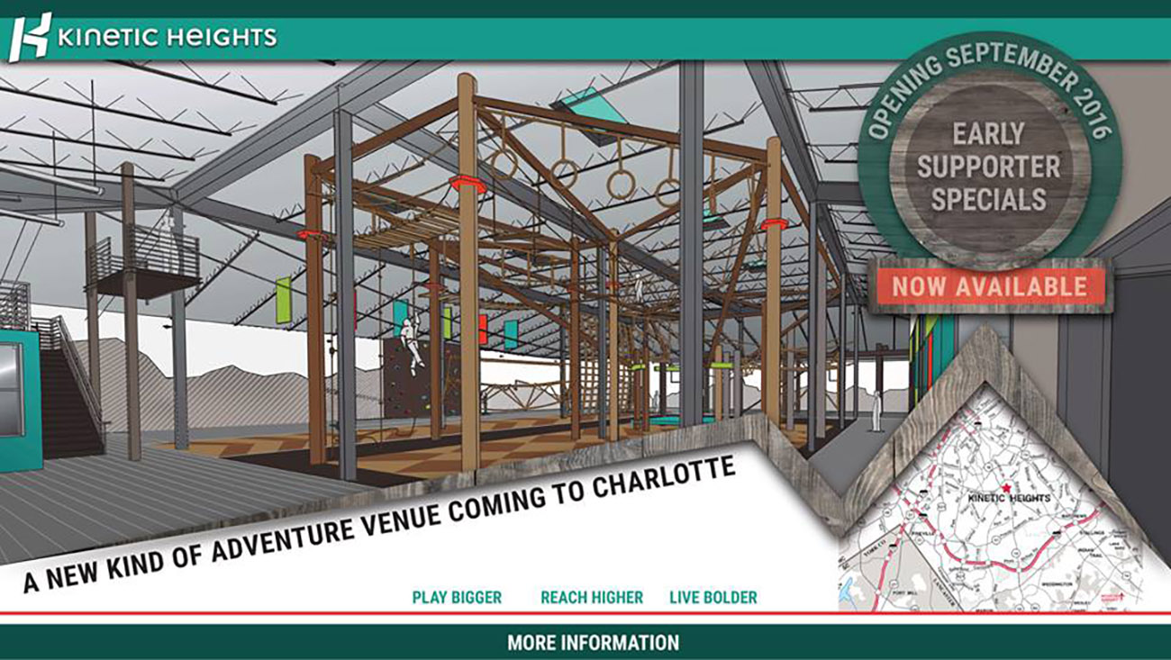 Obstacle course-like fitness concept Kinetic Heights will open next month