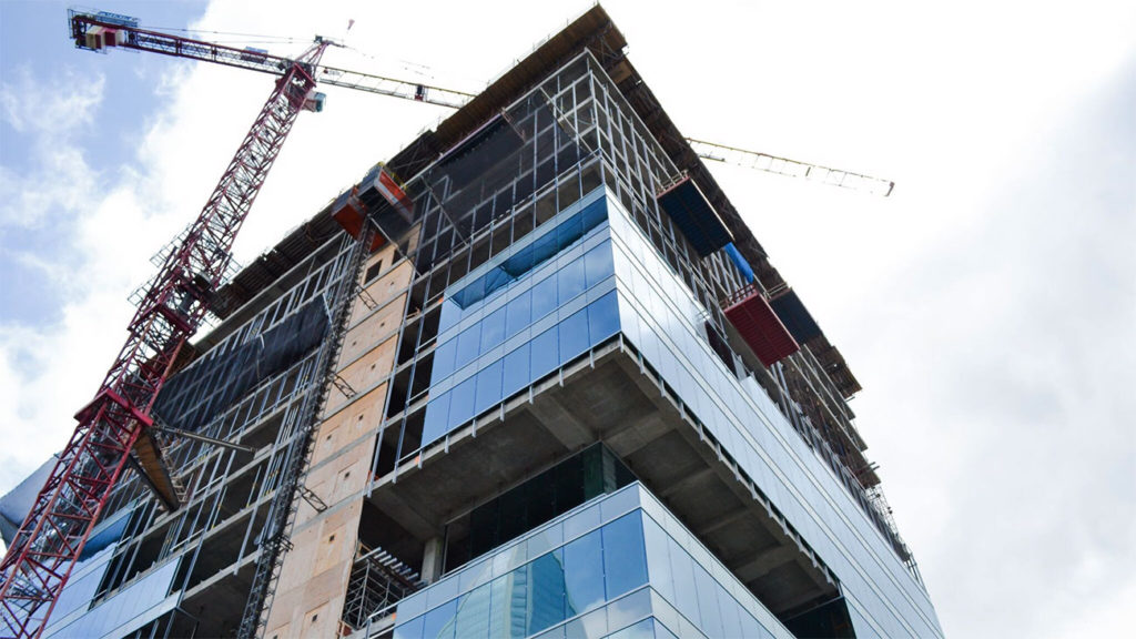 The office tower going up at 615 South College announced its first tenant