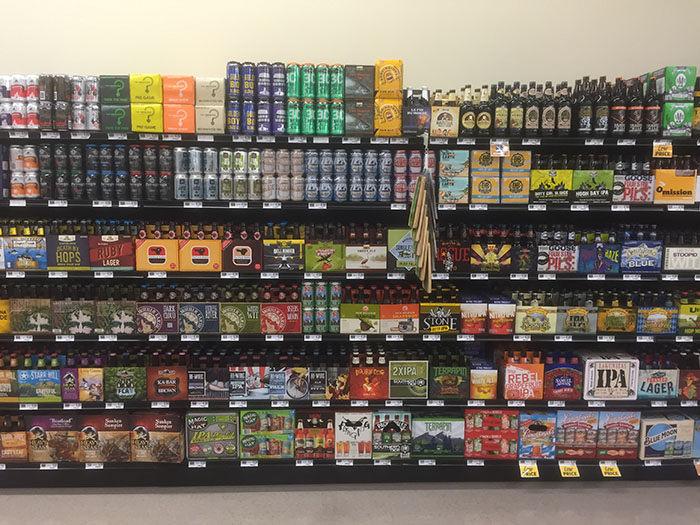 They now offer local and regional beer.