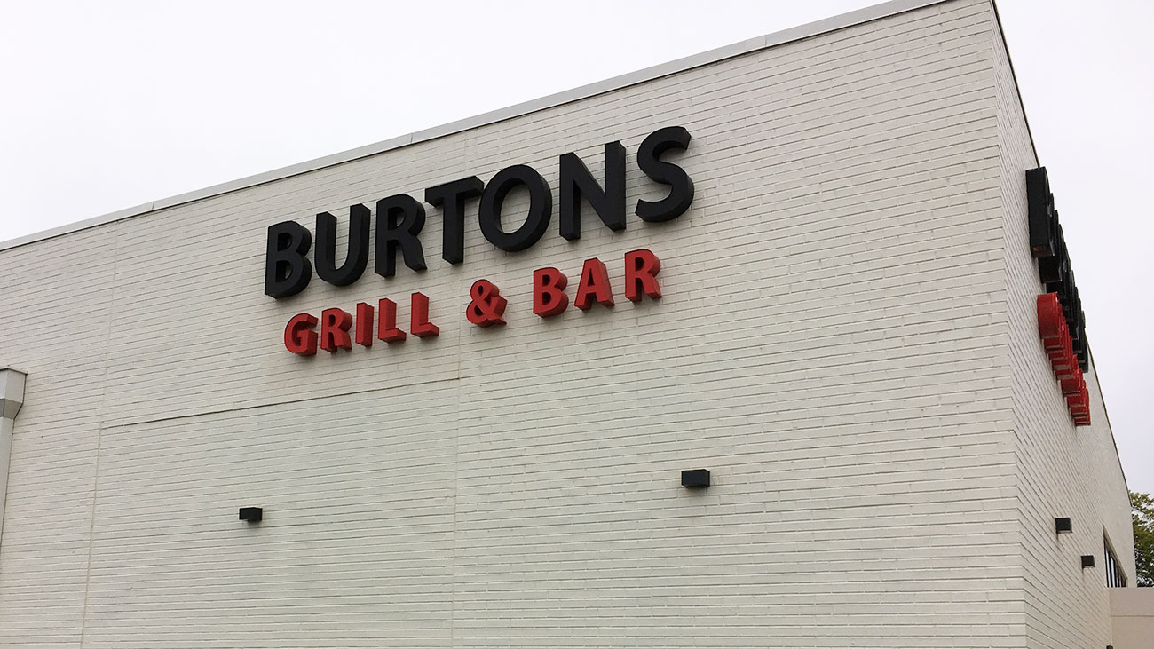 Burtons Grill opens November 1. View menu and look inside.