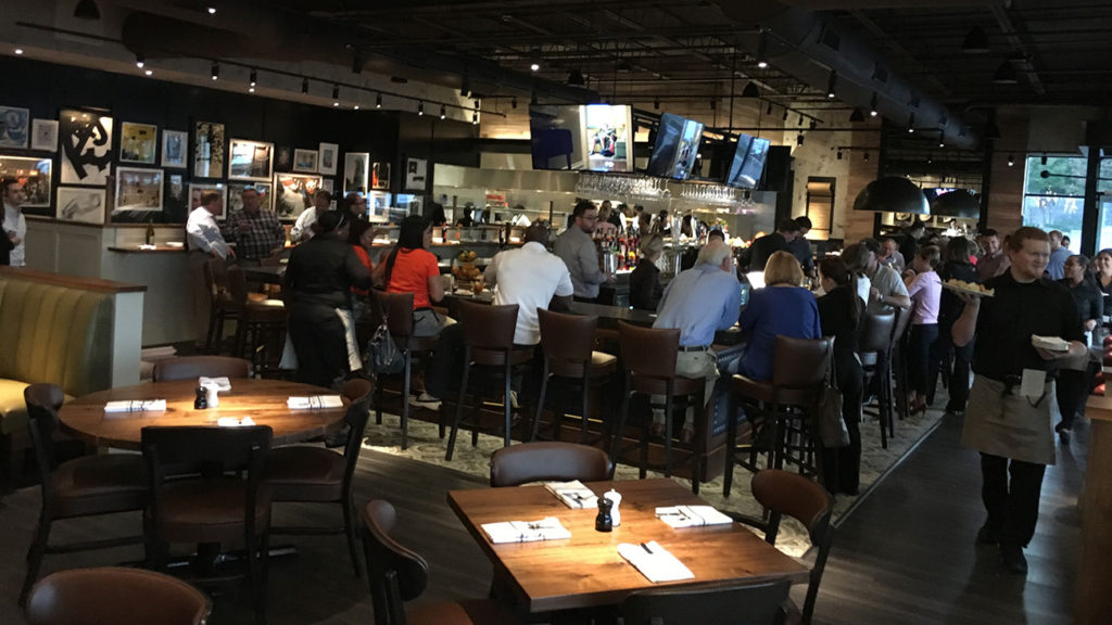 What does it look like inside Burtons Bar & Grill? This grill and bar opens tomorrow