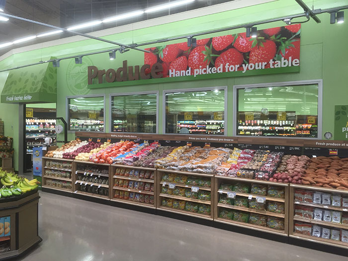 A new walk-in produce cooler