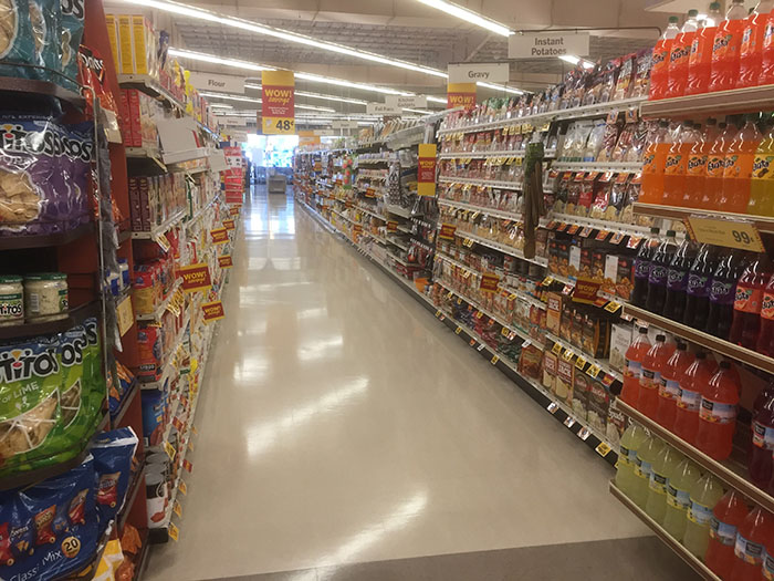 New, wider aisles