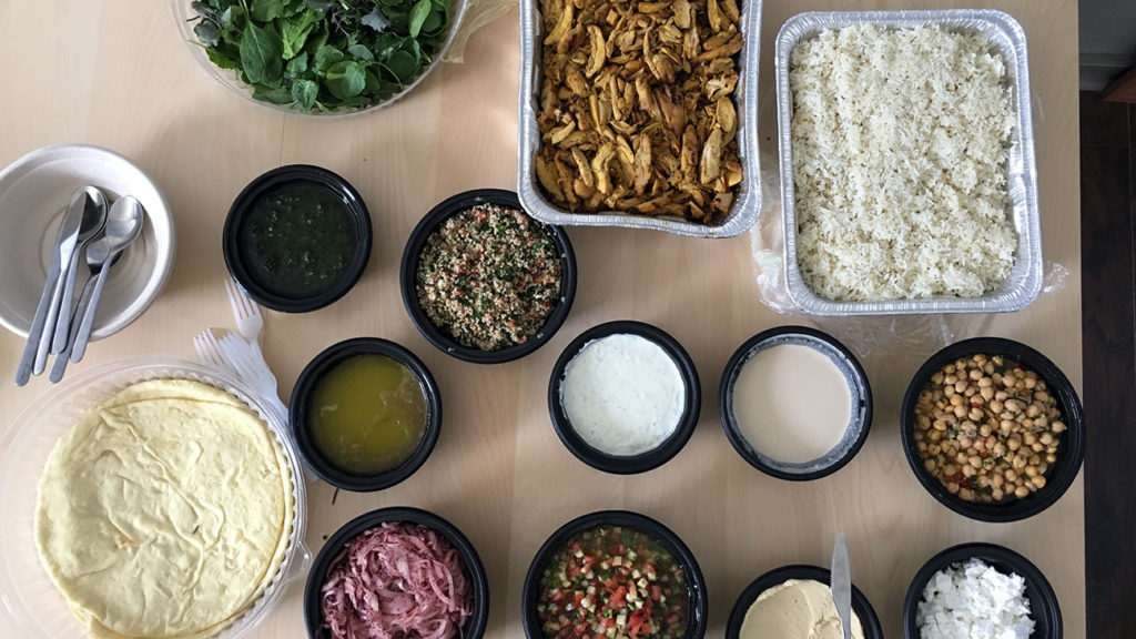 Yafo debuts new group menu. $60 will make a 6 person office happy and leave leftovers.