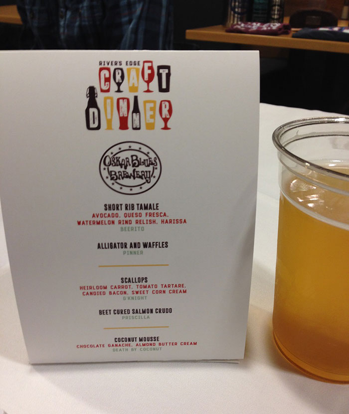 usnwc craft beer dinner menu