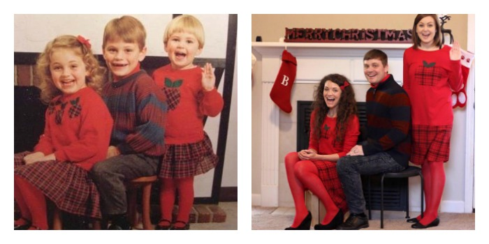 My greatest accomplishment was recreating our childhood Christmas card last year