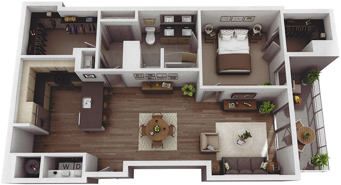 large-one-bedroom-Museum-Tower-apartment-uptown-charlotte