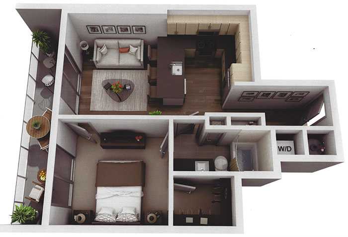 small-one-bedroom-Museum-Tower-apartment-in-charlotte
