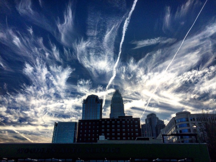 uptown skyline with clouds