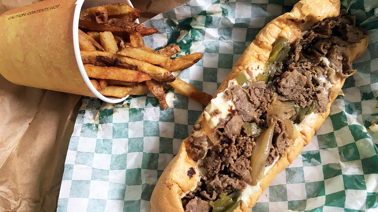 $7.25, 8-inch, torpedo-like Uptown cheesesteak delights bankers, construction workers and me