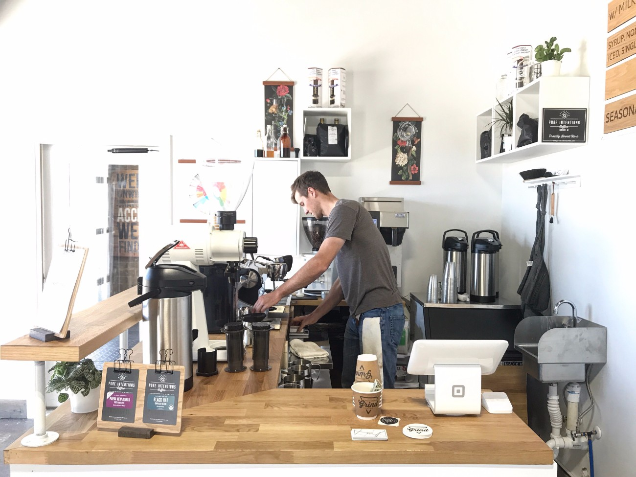 South End Grind, Charlotte's newest coffee bar, is now open on Clanton Road