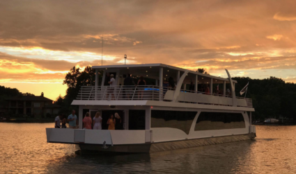Climb aboard Carolina Grace, the largest yacht on Lake Norman