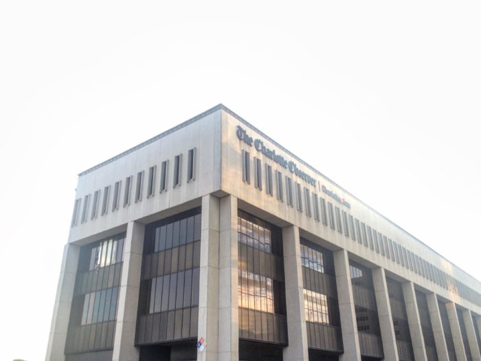 The Charlotte Observer's old headquarters on South Tryon, as seen in July 2017