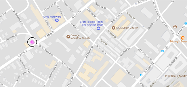map-location-yume-bistro-charlotte-south-end