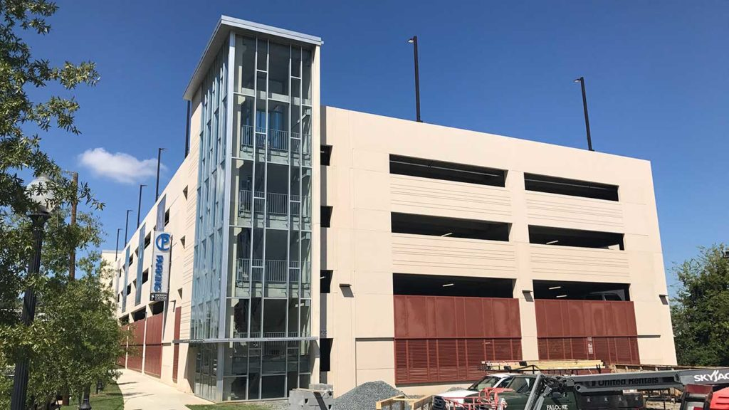 New parking deck open in South End by the Design Center