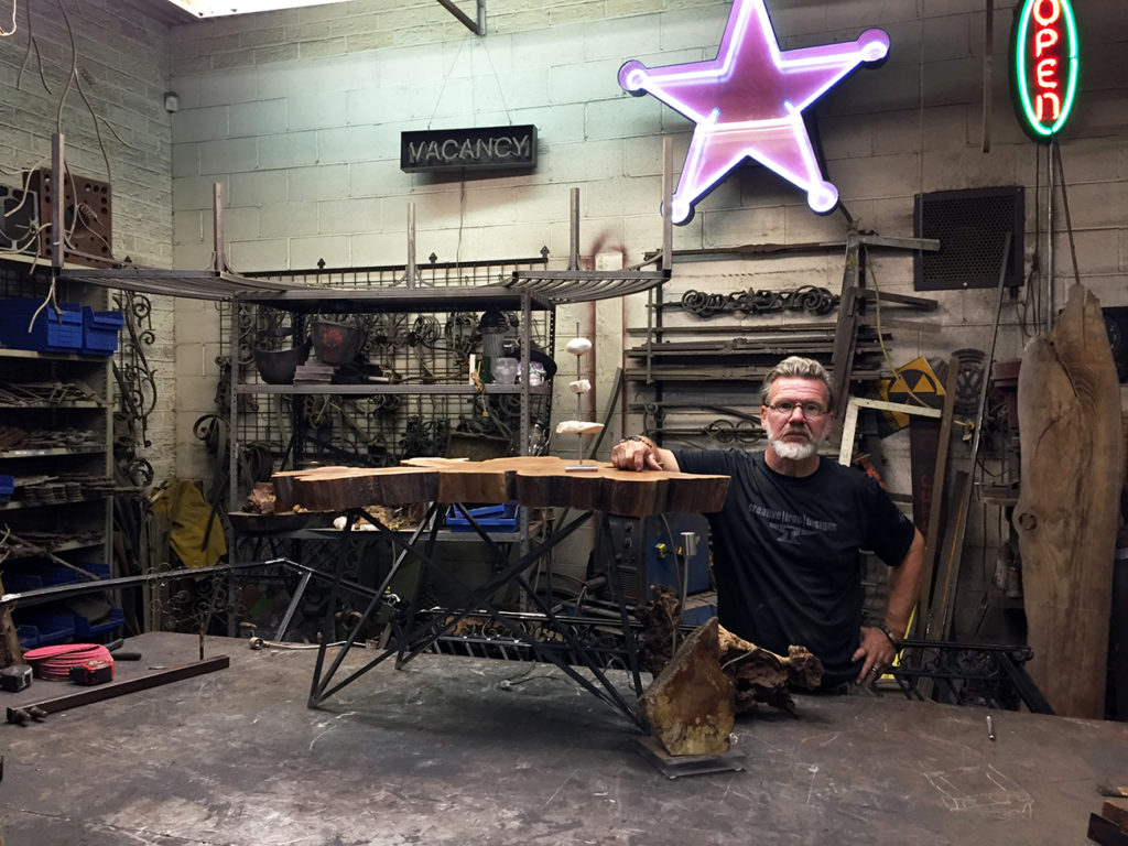 Meet Jim Watts, the guy behind a number of iron art installations you see all over our city