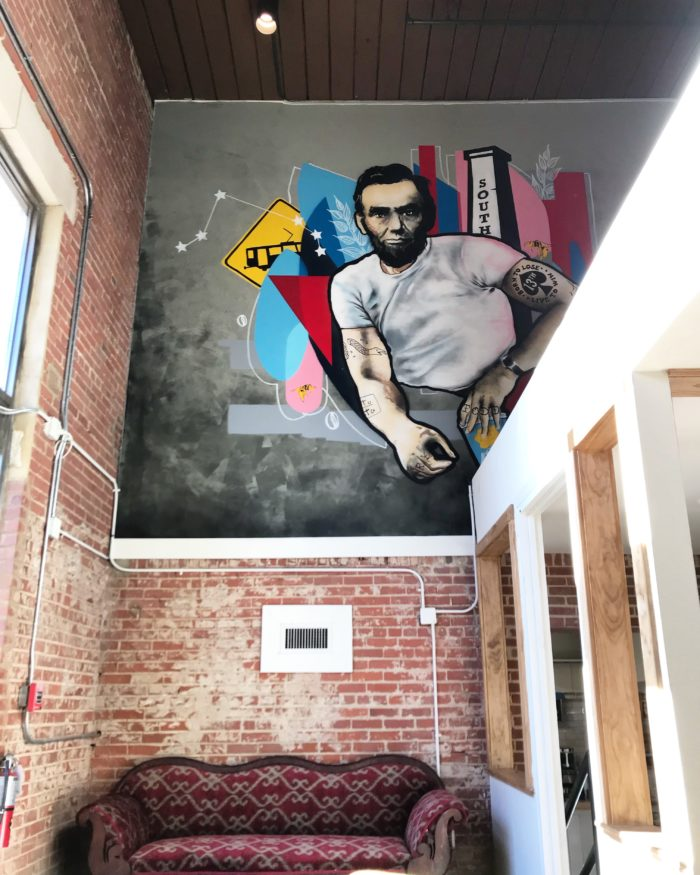 lincoln's haberdashery mural