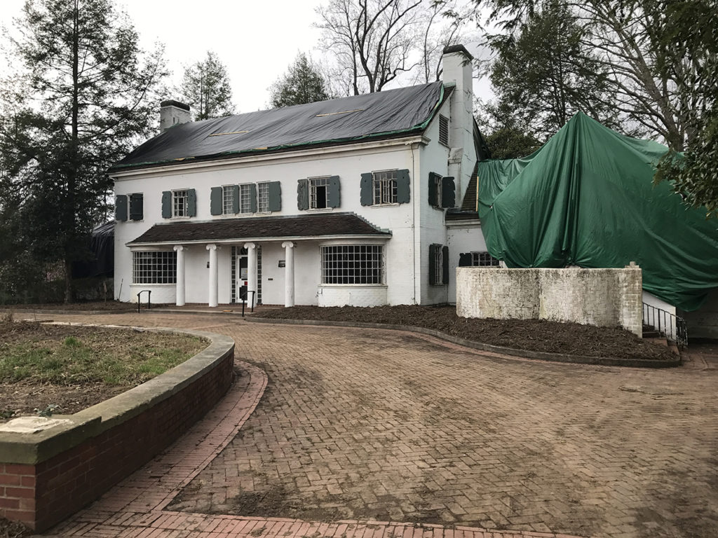 Plaza Midwood's historic Charles E. Barnhardt House is being restored