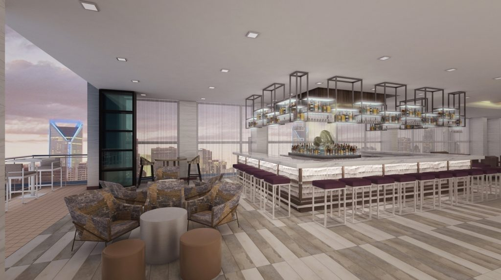 Uptown's next rooftop bar includes a luxury 2-bedroom penthouse suite available for VIP and event rental