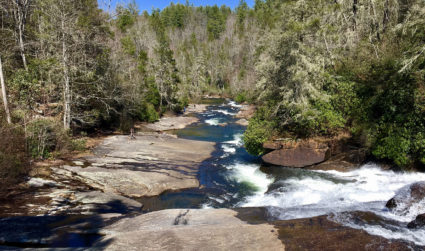 This 3-mile hike through a 10,400-acre forest features three waterfalls – as seen in Hunger Games and Last of the Mohicans