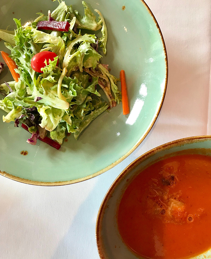 salad-and-soup-at-copper-indian-restaurant-charlotte