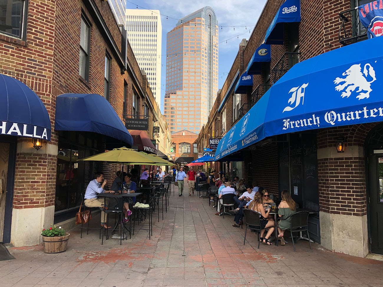 18 places to eat and drink in Uptown's historic Latta Arcade and Brevard Court