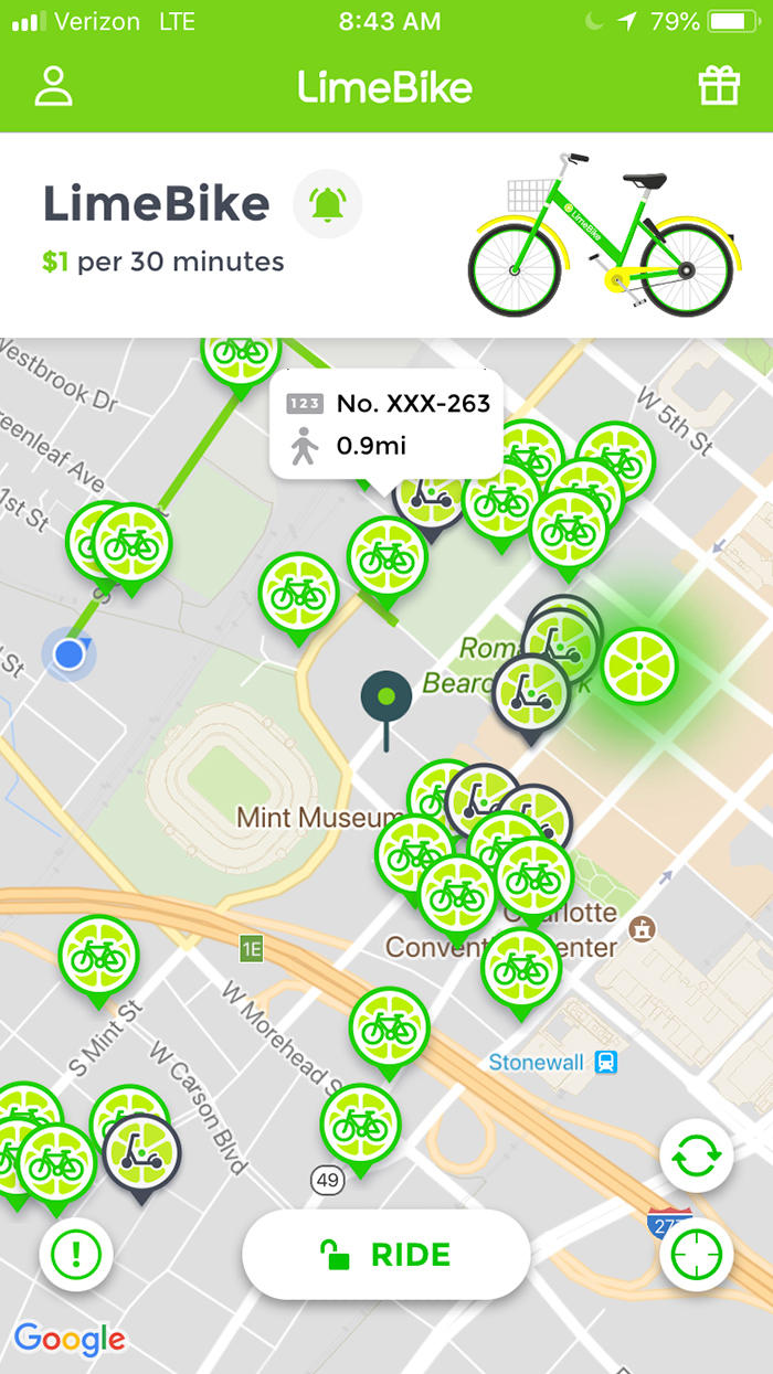 scooters-on-lime-mobile-map-charlotte