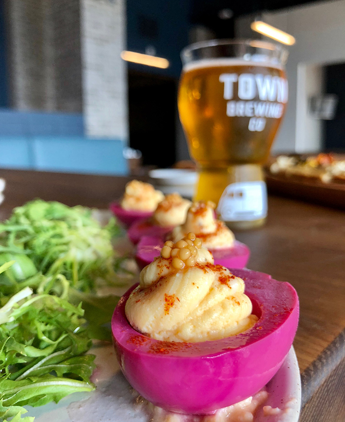 deviled-eggs-at-town-brewing-charlotte