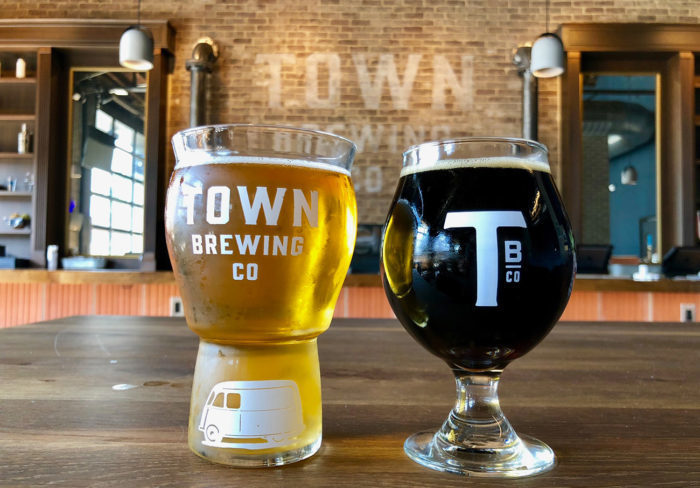 Town Brewing Company, Wesley Heights' first brewery, opens today near Rhino Market